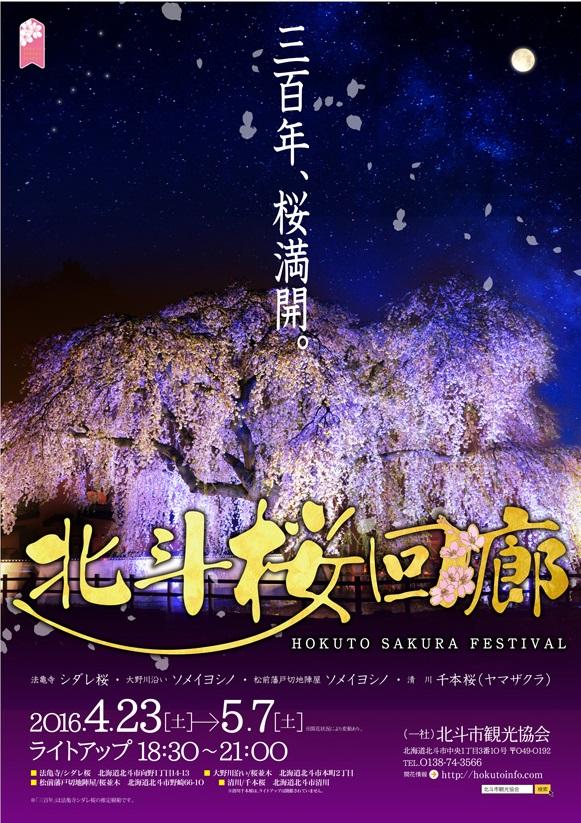 北斗桜回廊ポスター
